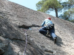 """Rock Climbing Photo: RW Leads the """"Right Hand Variant"""", Road ..."""