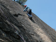 """Rock Climbing Photo: RW on Top Rope near the top of the """"Golden Ro..."""