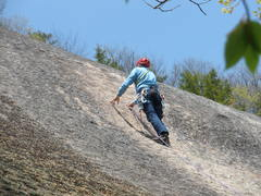 RW thinking over the crux moves above the bolt