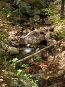 Rock Climbing Photo: Stream, just above the crossing, just before the l...