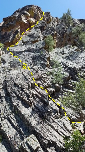Rock Climbing Photo: The right half of Tonto Buttress has a steep dihed...