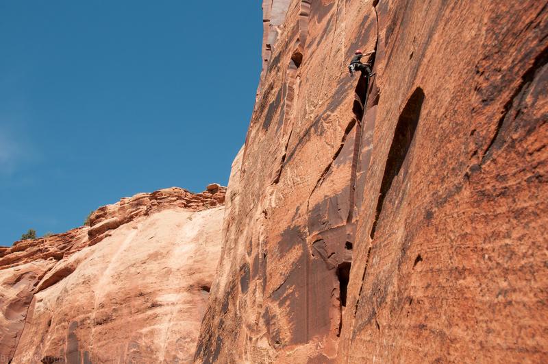 Rock Climbing Photo: Tim Foulkes firing the FFA of No Take On The Flake...