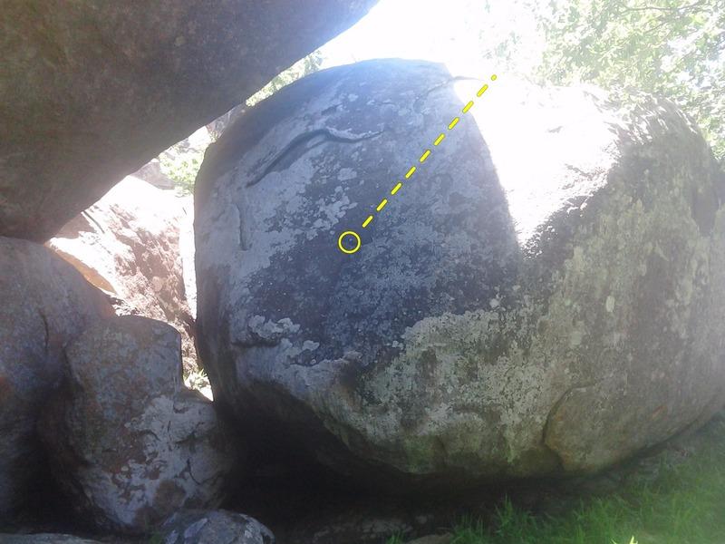 Rock Climbing Photo: Not a highball or a lowball. Just a cornball.