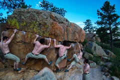 Rock Climbing Photo: A compilation of me working the first half of the ...