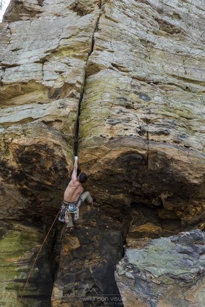Rock Climbing Photo: low roof crux