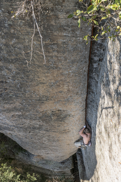 Rock Climbing Photo: not sure which route this was, around the corner l...