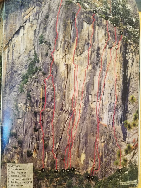Rock Climbing Photo: Route is penned in