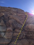 Rock Climbing Photo: You can climb this a (somewhat) direct start optio...