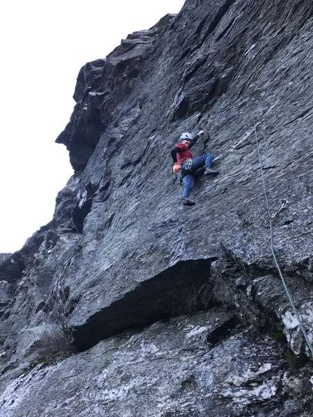 Rock Climbing Photo: Hope Chipman climbing the Flight of the Manatee ju...
