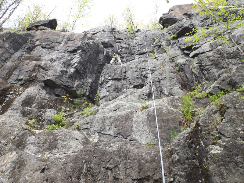 Rock Climbing Photo: Burke's Path,  5.5 on left slightly harder on righ...