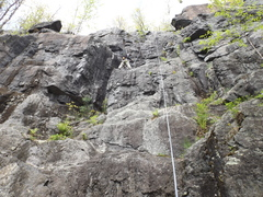 Rock Climbing Photo: Burke's Path,  5.5 on left slightly harder on righ...