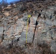 Rock Climbing Photo: Swayze Express route topo