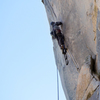 Splitter crack off of Ahwahnee Ledge.