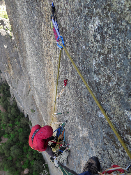Rock Climbing Photo: Don't crater your belayer! Pitch 7.