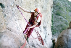 Rock Climbing Photo: Jamming Jim on hart route around late 1970 somethi...