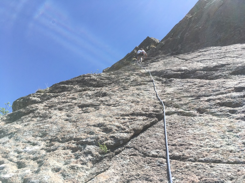 Rock Climbing Photo: Marc Tarnosky leading P3. Note: the rope going alo...