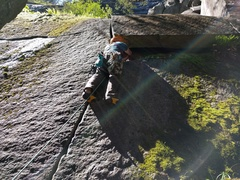 Rock Climbing Photo: The first pitch of Aries aka Lizard.