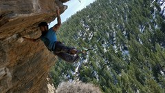 Rock Climbing Photo: Jamie G. doing his thing on the NEW Super Mario, 1...