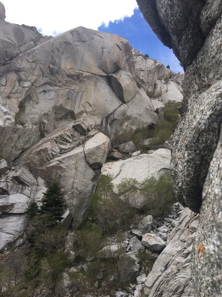 Rock Climbing Photo: Overview of upper half (shot from mother of pearl)...