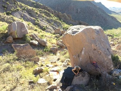 Rock Climbing Photo: Looking at the nice quality Gully Boulders.