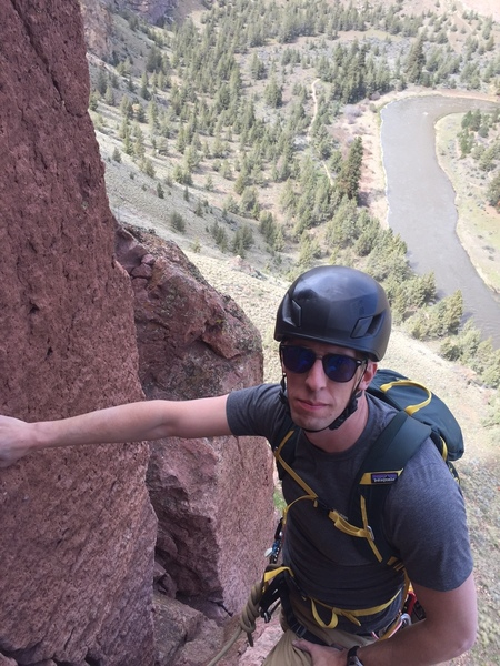 Last pitch of Moscow (5.6) at Smith Rock, OR.