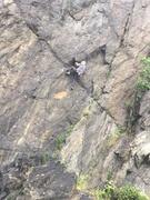 Rock Climbing Photo: Sweet triangle alcove. Route gets progressively ha...