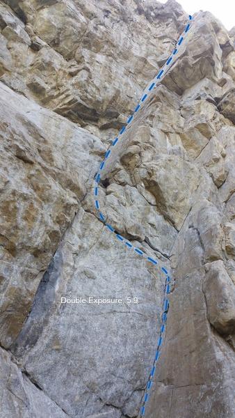 Rock Climbing Photo: Double Exposure