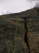 Rock Climbing Photo: Upper section of the pitch, difficult to see when ...