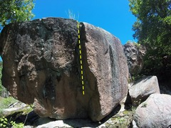 Rock Climbing Photo: The line of #10