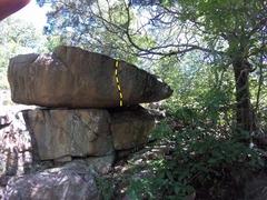 Rock Climbing Photo: The line of Bikini Bottom