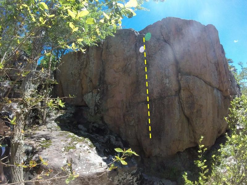 Rock Climbing Photo: The line of #17