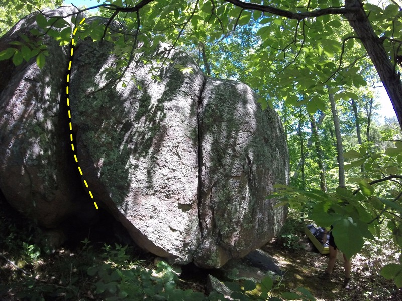 Rock Climbing Photo: The line of #41