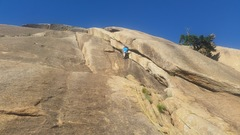Rock Climbing Photo: Reclimbing The Dihedral to retrieve a stuck rope