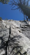 Rock Climbing Photo: Climbs the small crack in the middle right of the ...