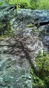 Rock Climbing Photo: Nice picture showing the entire climb after the le...