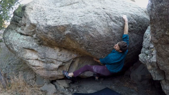 Rock Climbing Photo: Moving on after the initial throw to the lip of Cr...