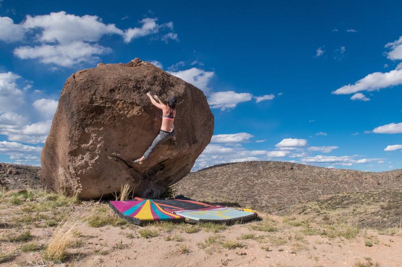Rock Climbing Photo: Oso Segundo boulder, Los Alamos. May 2017.