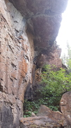 Rock Climbing Photo: A view of the Roof Crack from the bottom.