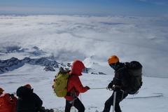 Quick break before summit push