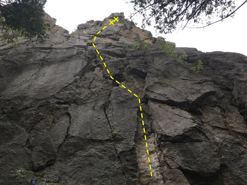 Rock Climbing Photo: The general gist of the route