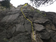 Rock Climbing Photo: The general gist of the route  A great lead for ...