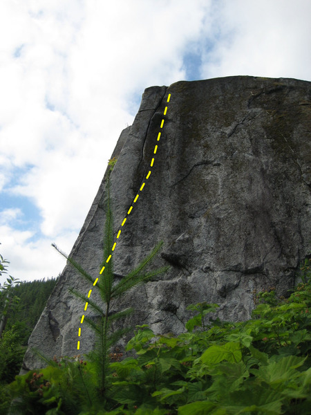 Photo Credit: LisaMarie<br> <br> The Tall Cool White One follows the face to the right of the arete.