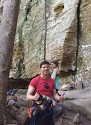 Rock Climbing Photo: Feeling pretty good after 5/5 climbing days at The...