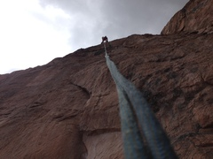 Rock Climbing Photo: Rappeling down!