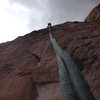 Rappeling down!
