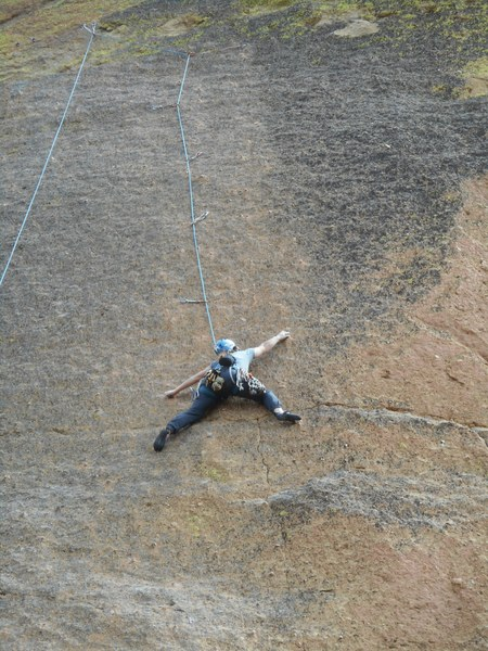 Rock Climbing Photo: The amazing climbing up the mostly blank face.  No...