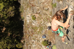 Rock Climbing Photo: Great warmup with big positive holds.