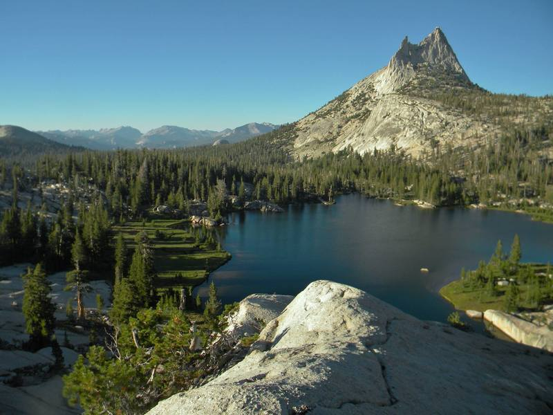 From upper cathedral lake
