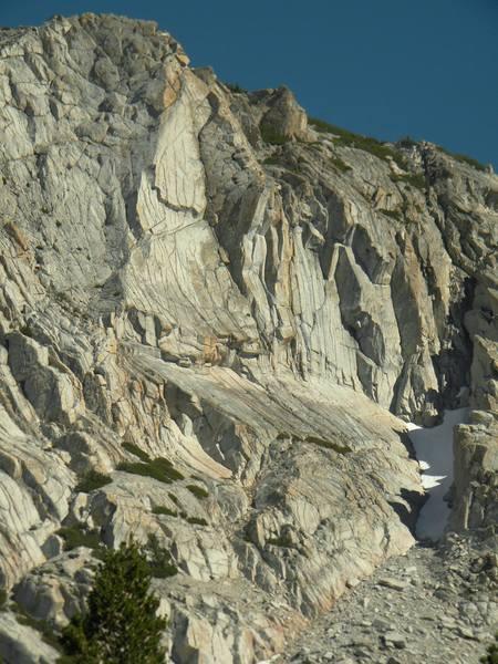 West faces of Fletcher peak.