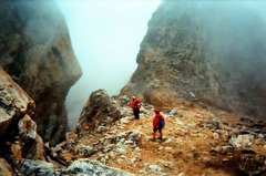 Rock Climbing Photo: Going down.  Mind the quality - it was taken on a ...